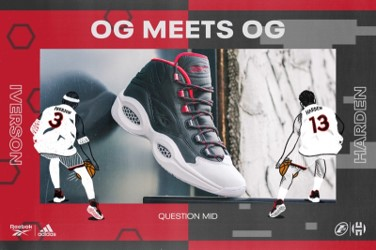 "「IVERSON X HARDEN QUESTION MID ""OG MEETS OG""」 8月28日(金)直営店発売"
